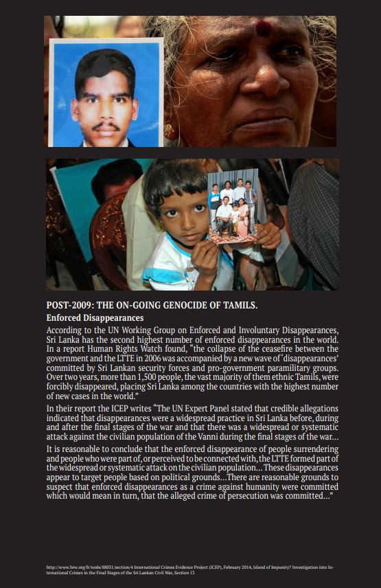 Post- 2009- The Ongoing Genocide of Tamils